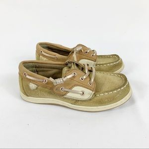 Sperry Girls Songfish JR Gold Topside Boatshoes